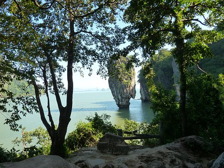 Thailand, James Bond, Rock, Sea