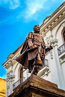 City, Urban City, Statue, Mexico, Sky, Architecture