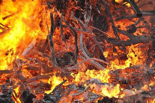 Fire, Bonfire, Flame, Smoke, Burn, Sparks, Fiery