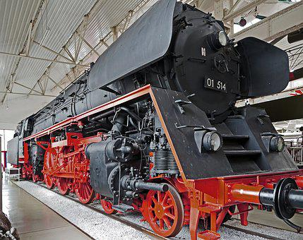 Steam Locomotive, Express Train, Br 01, Museum, Exhibit