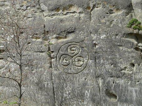 Stone, Rock, Steinzeichnung, Relief, Characters