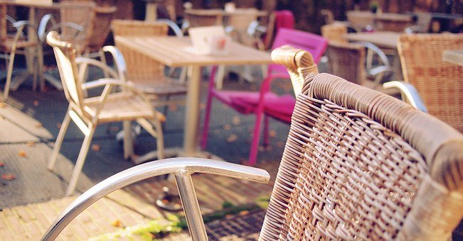 Cafe, Terrace, Restaurant, Outdoors, Table, Chair, City