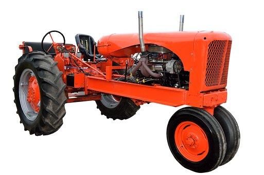 Vintage, Red, Tractor, Retro, Restored, Antique, Farm
