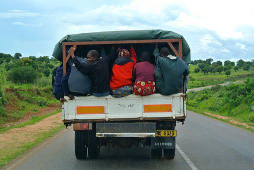 Africa, Lorry, Transport, Truck, Road, Vehicle, People