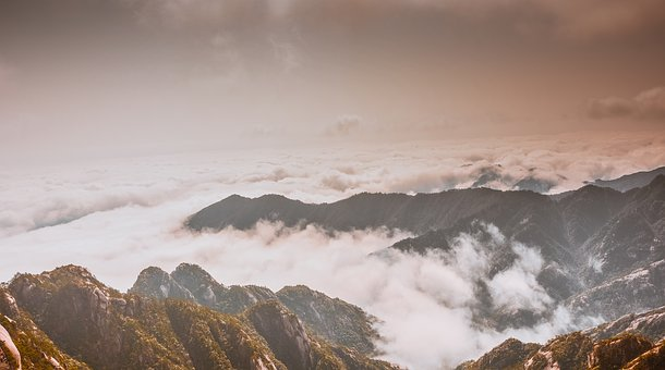 Huangshan, Clouds, Xian Qi, Foggy Road, Travel