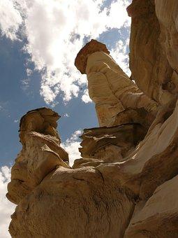 White Hoodoos, Wahweap Creek, Arizona, Usa, Rock Column