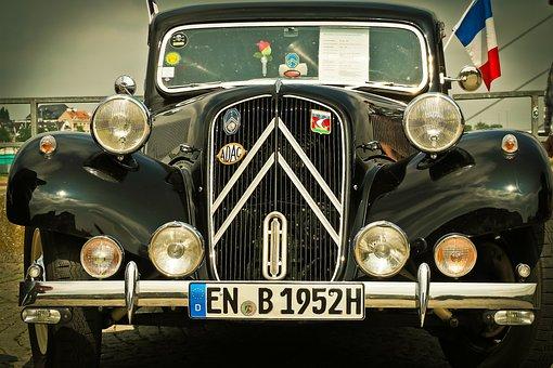 Citroen Traction Avant, Auto, Citroen, Vehicle, Classic