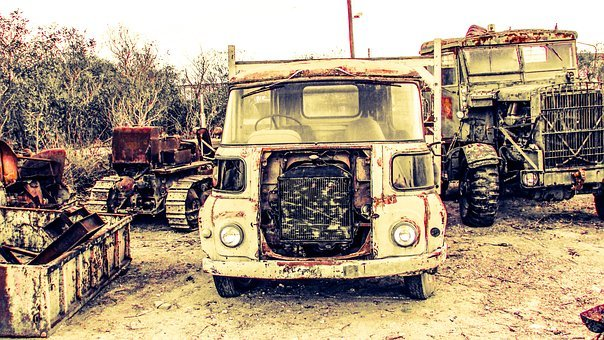 Truck, Old, Rusty, Metal, Vehicle, Antique