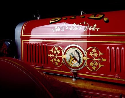 Fire, Fire Truck, Red, Auto, Oldtimer, Vehicles
