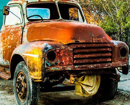 Truck, Rusty, Old, Vintage, Car, Vehicle, Antique