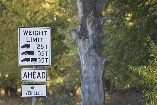 Sign, Weight Limit, Road, Restriction, Truck