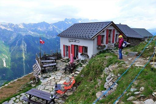 Nature, France, Alps, Haute Savoie, Refuge, House