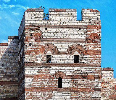 City Wall, Defensive Tower, Antique, Restored