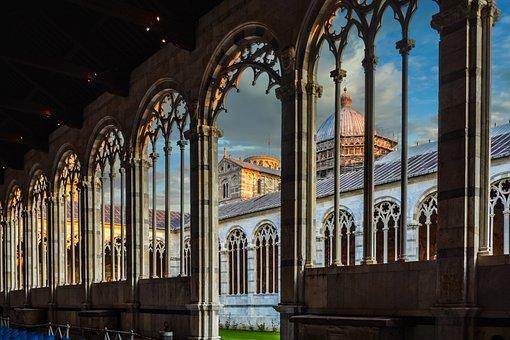 Architecture, Church, Travel, Arch, Column, Camposanto