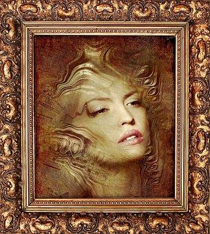 Picture, Frame, Art, Gilding, Museum, Baguette, Woman