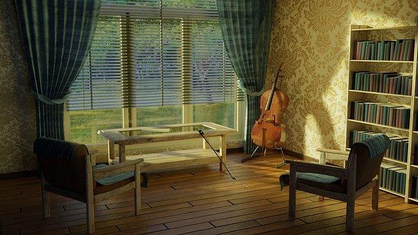Window, Furniture, Room, House, Apartment, Cello