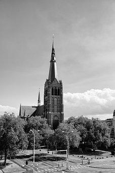 Architecture, Church, City, Tower, Religion, Eindhoven