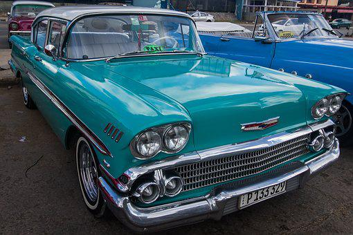 Cuba, Havana, Almendron, Car, Classic, Riviera Hotel