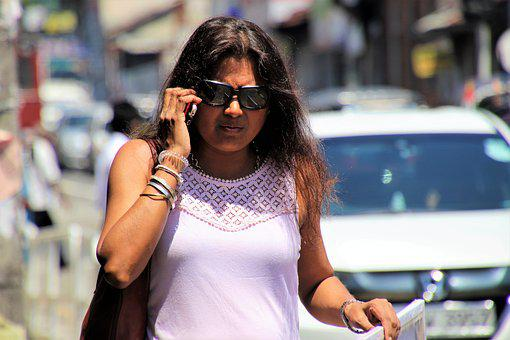 Sri Lanka, Phone, Conversation, Glasses, Look