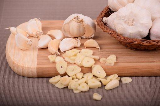 Wooden, Wood, Food, Table, Cooking, Garlic, Ingredient