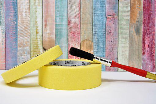 Brush, Flat Brush, Masking Tape, Paint, Delete, Painter