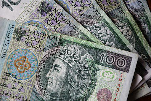Euro Banknotes, Polish Zloty, Currency, Finance