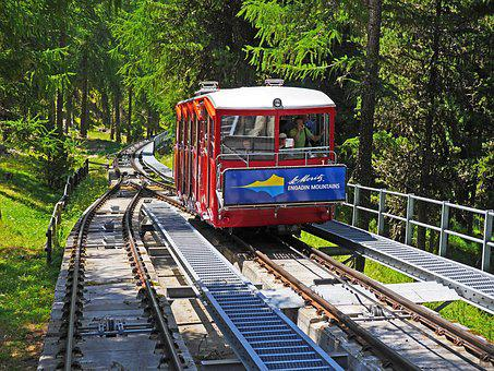 Funicular Railway, Dodging, Encounter, Mountain Ride