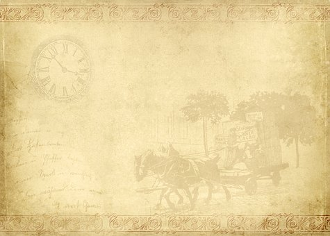 Frame, Horse Drawn Carriage, Clock, Shabby, Chic