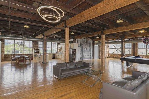 Indoors, Inside, Trading Floor, Ceiling, Furniture
