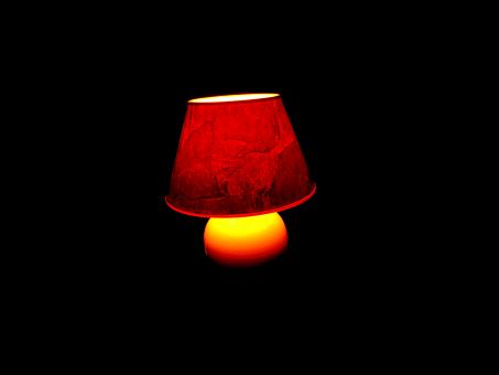 Lamp, Light, Warm, Yellow, Black, Lampshade
