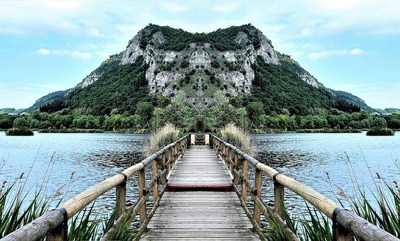 Water, Nature, Travel, Landscape, Sky, Mirror, Bridge