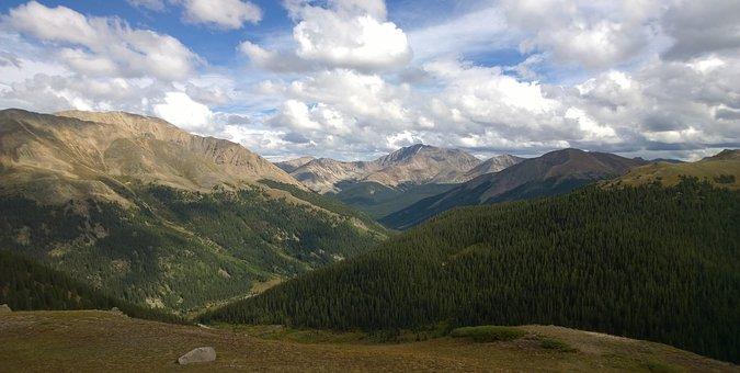 Rocky Mountains, Panoramic, Nature, Mountain, Landscape