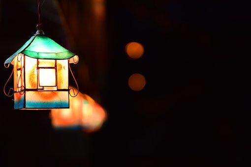 Light, Illuminated, Dark, Lamp, Lantern, Luminescence
