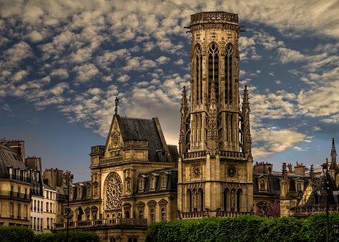 Paris, Church, Monument, No Person, City, Sky