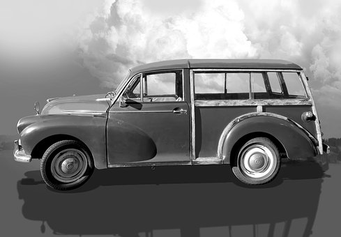 Car, Morris Minor Traveller, British Car Brand