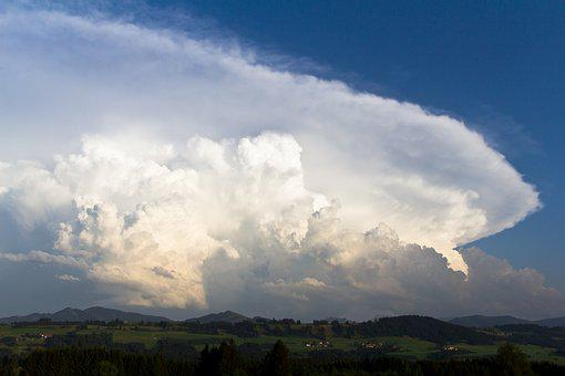 Nature, Landscape, Cloud, Sky, A Thunderstorm Cell