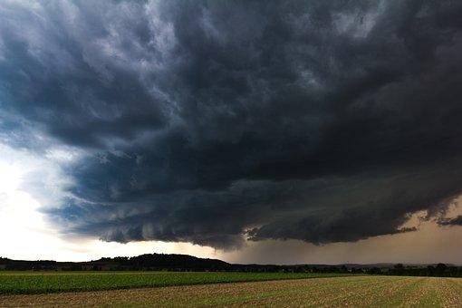 Nature, Forward, Sky, Landscape, Storm, Super Cell