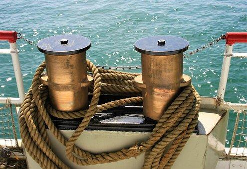 Dew, Nautical, Sea, Ship, Boot, Bollard, Fischer, Water