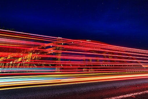 Transport, Traffic, Car, Quickly, Light, Night Shots