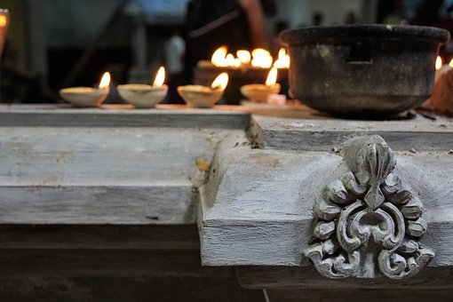 Religion, Old, Architecture, Flare-up, Ornament, Candle