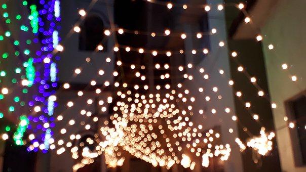 Christmas, Illuminated, Desktop, Abstract, Pattern