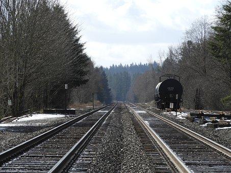 Railway, Railroad Track, Train, Rail Car, Track, Winter