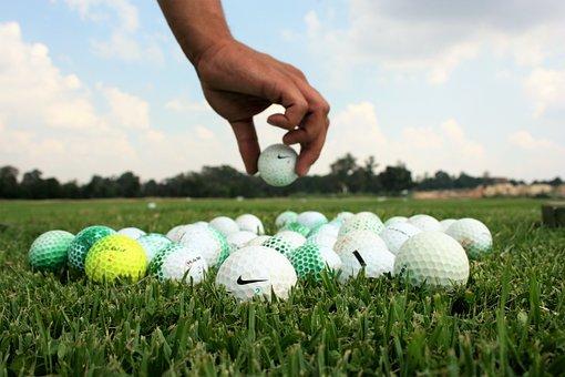Ball, Golf, Grass, Sport, Leisure, Recreation, Game