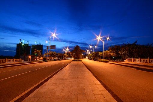 Road, Transport System, Twilight, Street, Traffic