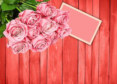 Flower, Rosa, Wood, Romantic, Roses, Background Wood