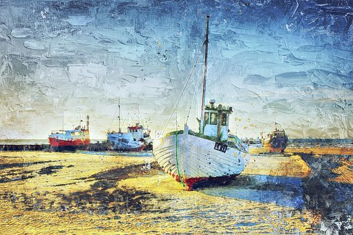 Cutter, North Sea, Port, Shrimp, Fishing Vessel