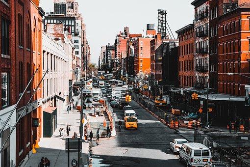New York, City, Street, Urban, Traffic, Town, Building