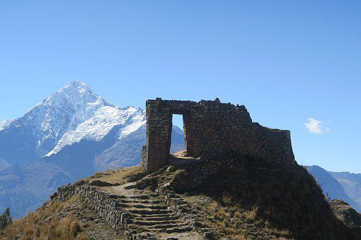 Mountain, Sky, Nature, Travel, Outdoors, Sun Gate, Peru