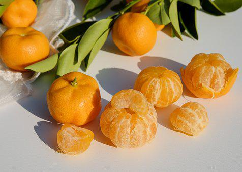 Tangerines, Citrus Fruits, Fruit, Ripe, Juicy, Sweet