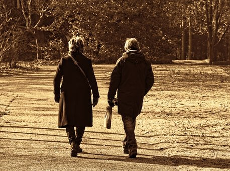 People, Man, Woman, Couple, Walking, Together, Footpath